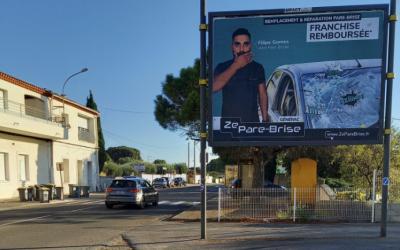 Campagne d'affichage grand format à Nîmes, ZE CARROSSERY en profite ! - Augmenter sa visibilité et améliorer sa communication